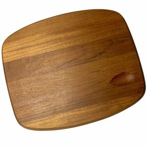 VTG Dansk Teak Cheese Cutting Board Serving MCM